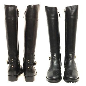 Tory Burch Shoes - NEW Tory Burch Tall Black Leather Riding Boots 7